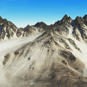 3d mountains terrain model