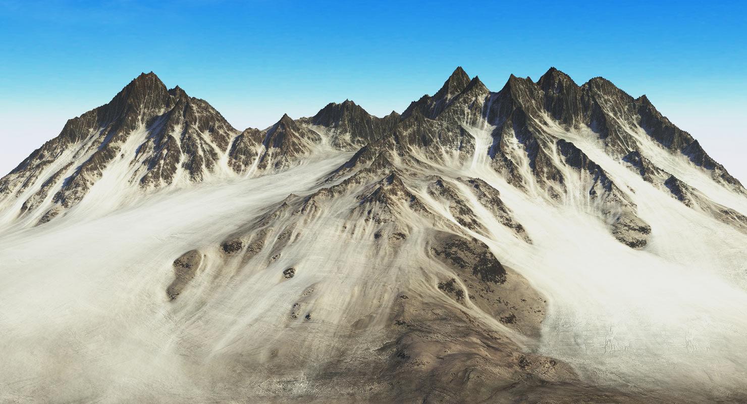 3d mountains terrain model