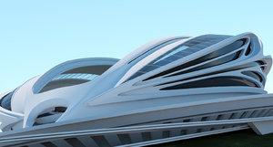conceptual stadium 3d model