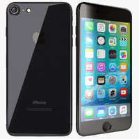 apple iphone 7 black 3d model