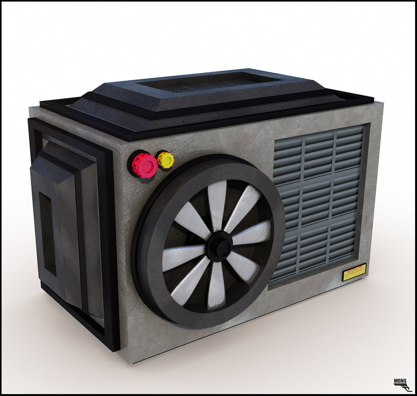 obj cartoon conditioner air