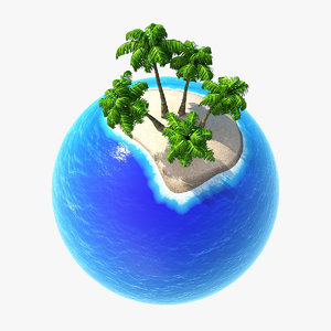planet tropic 3d max