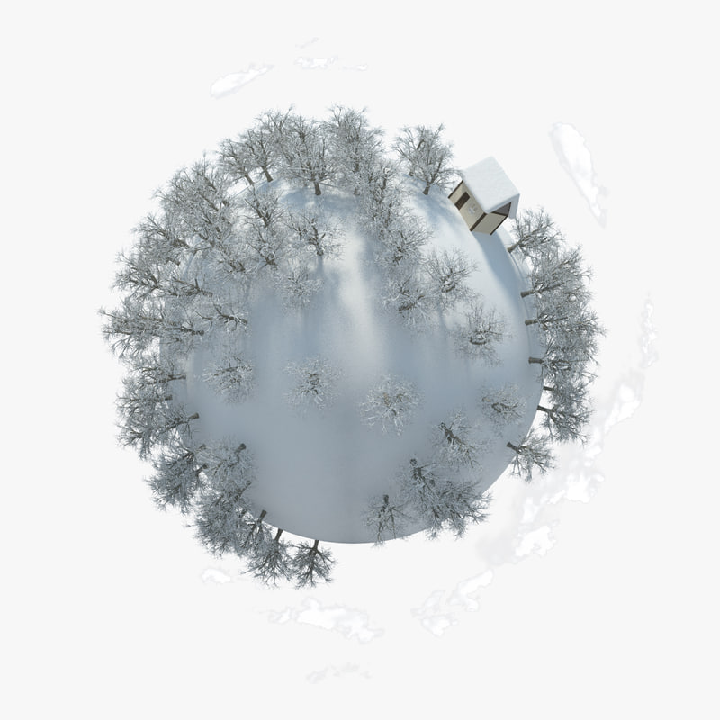 planet winter 3d max