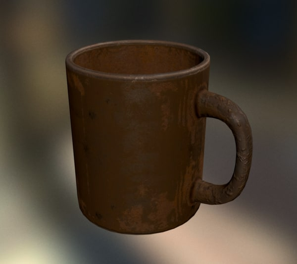 coffee cup rust 3d model