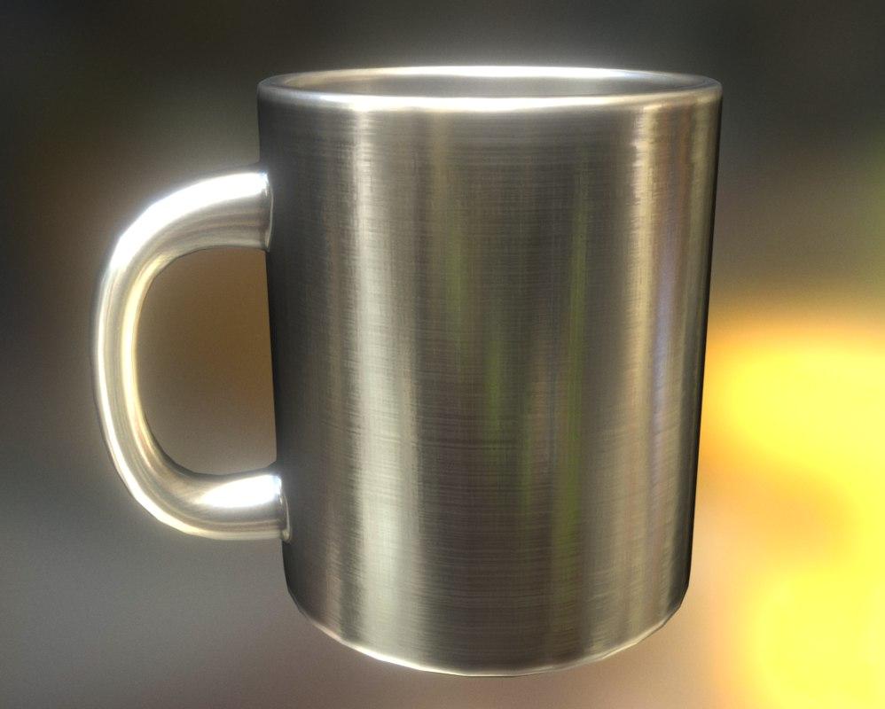 3d model coffee cup alu
