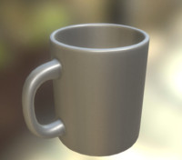 coffee cup clean 3d 3ds