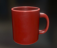 coffee cup red 3ds