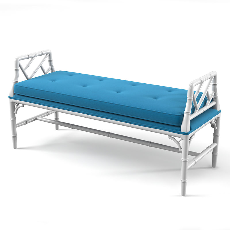 3d chippendale bench model