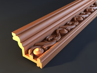 cornice mold decor 3d obj