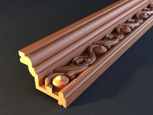 cornice mold decor 3d obj