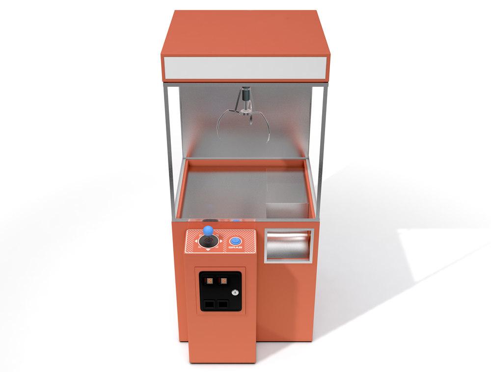 claw machine arcade c4d