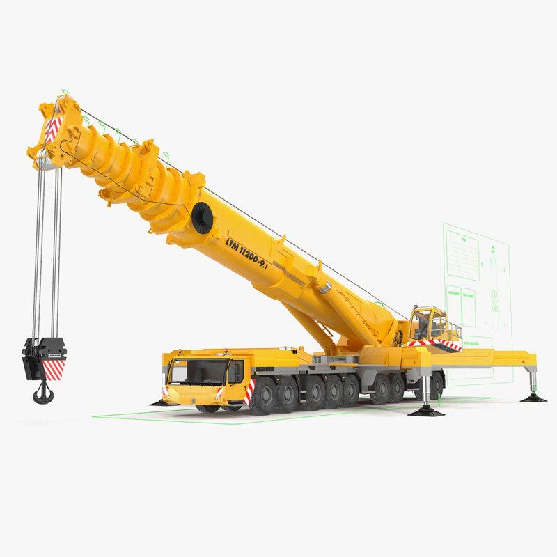 3d liebherr crane rig model