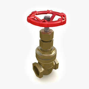 vintage valve 02 3d 3ds