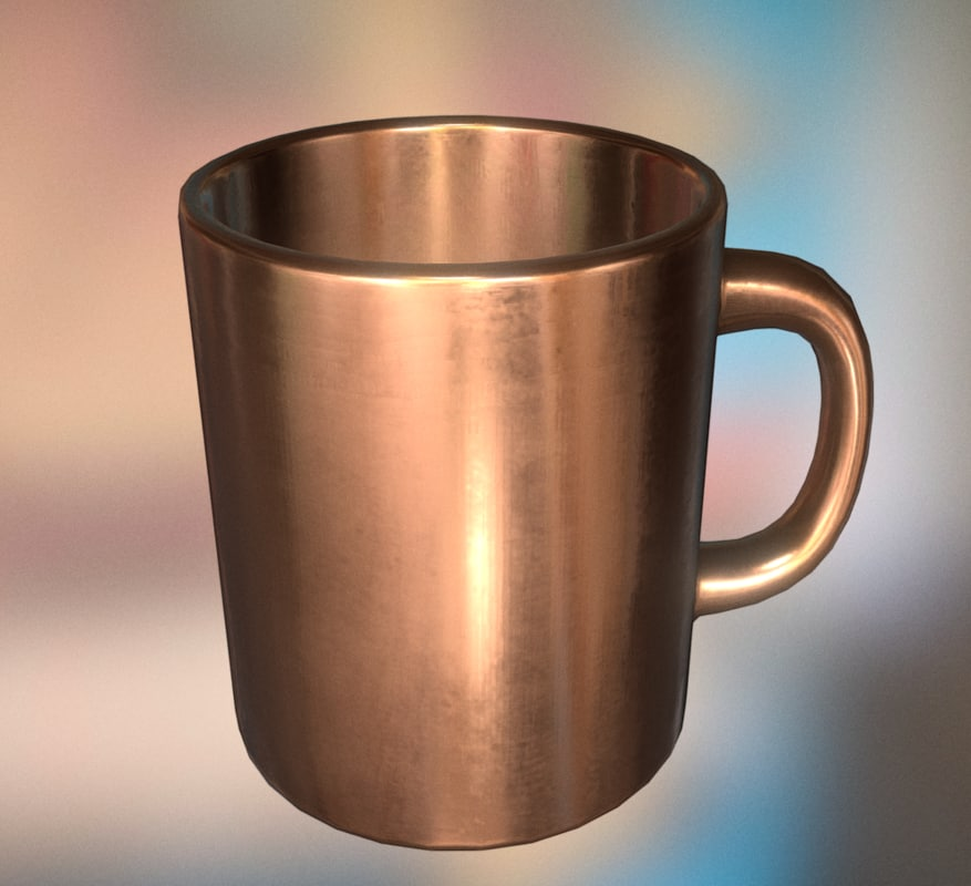 coffee cup copper 3d model