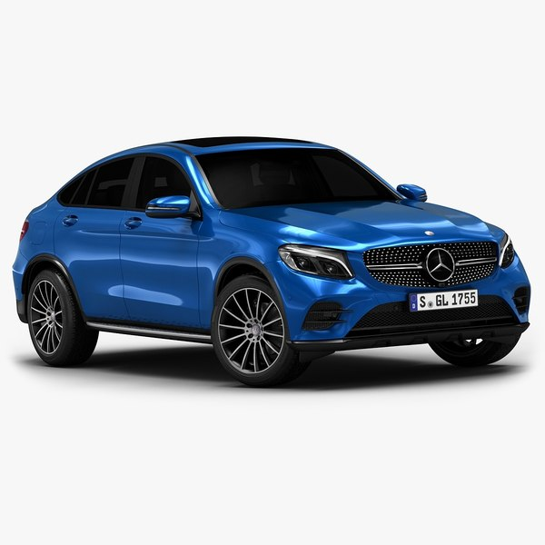 3d model 2017 mercedes-benz glc coupe