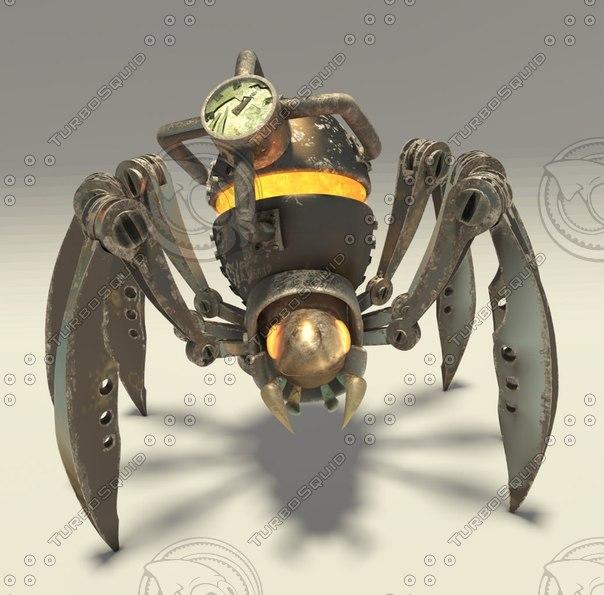 mechanical spider 3d model