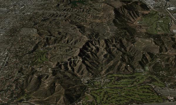 mesh cahuenga peak 3d fbx