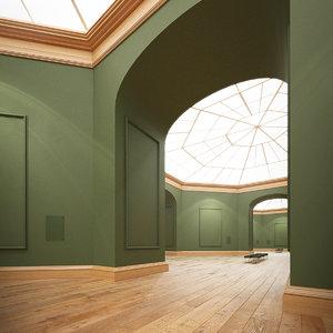 art gallery 3d max