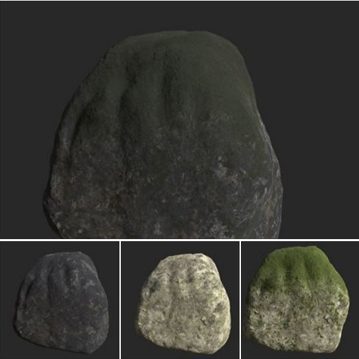 2 rock cliff 3d model
