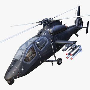 3d model harbin z-19 attack helicopter