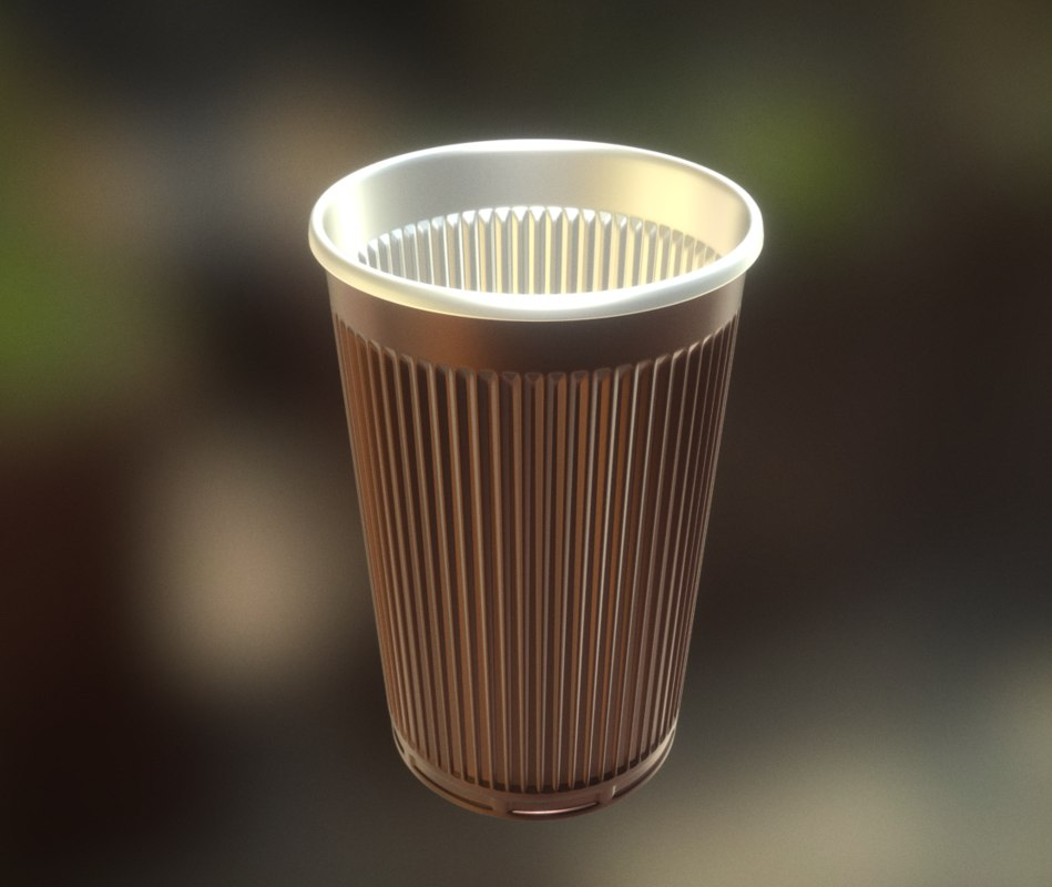 highpoly plastic cup 3d model