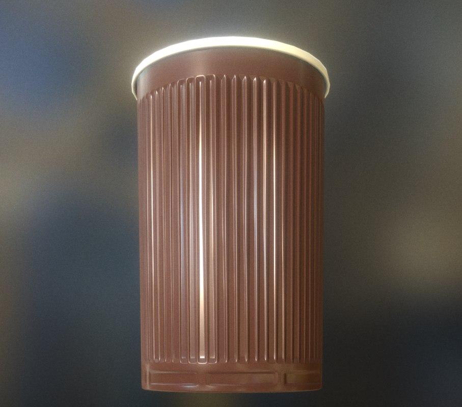 3d plastic cup clean version model
