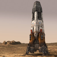 spaceship rocket 3d max