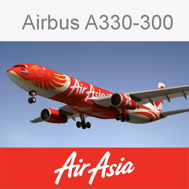 3d model airbus air asia