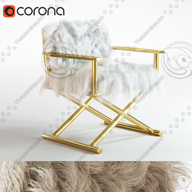 chair tibetan fur 3d model