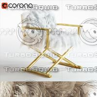 chair tibetan fur 3d model