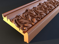 3d cornice mold decor model