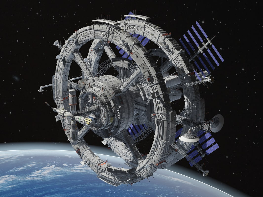 3d model generic sci-fi space station