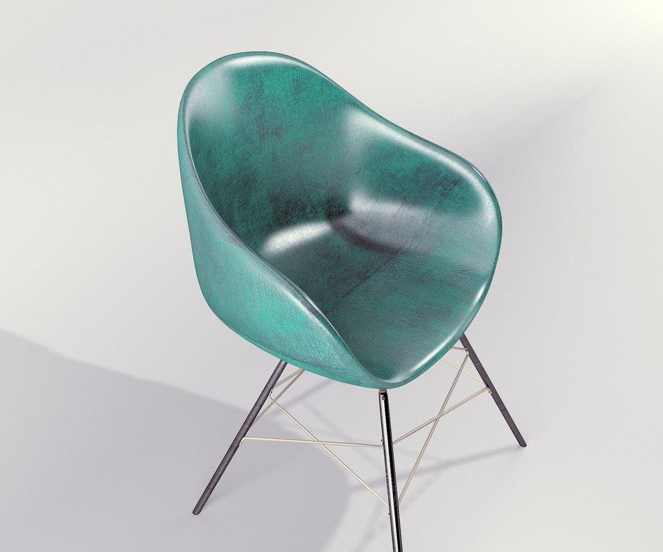 3d torqouse chair