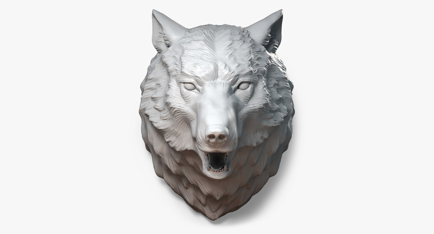 Lion Head Digital Sculpture 3d Model Wall Mount Jewelry Base