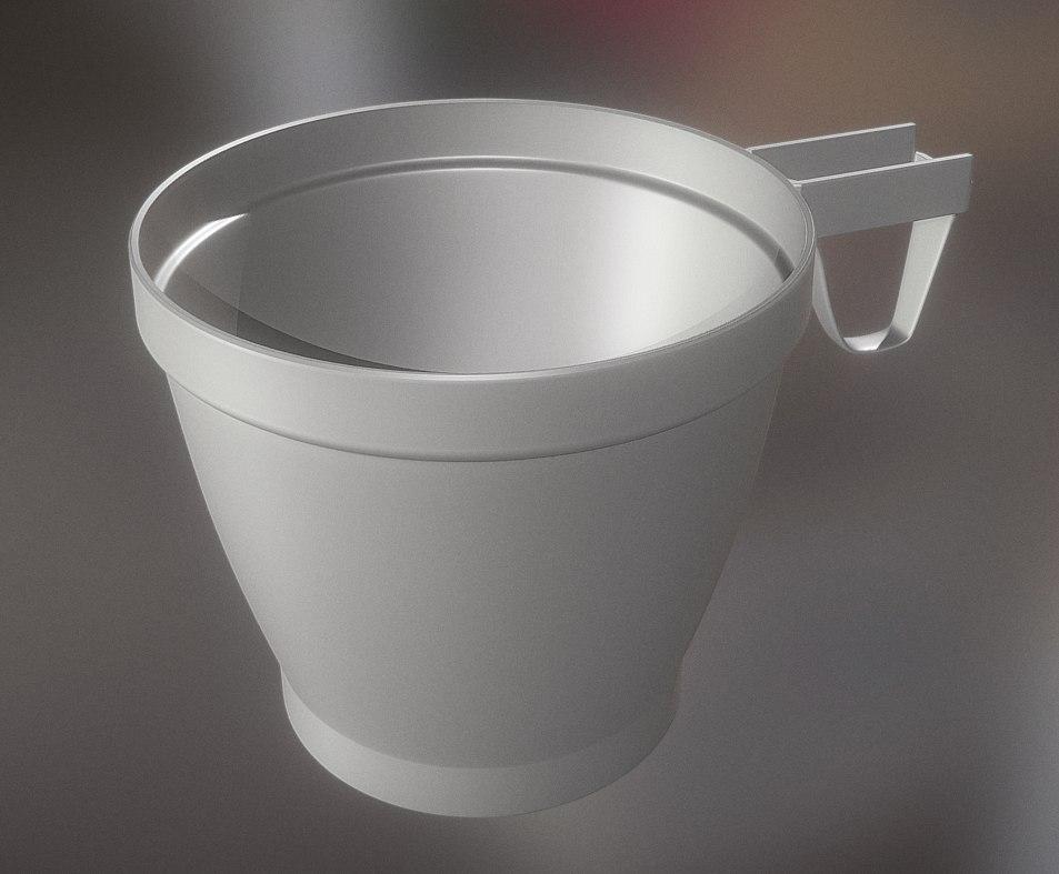 highpoly plastic cup 2 3d model