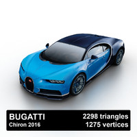 2016 bugatti chiron 3d 3ds