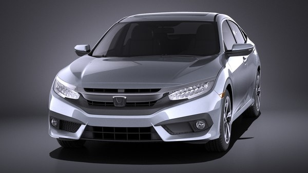 3d honda civic sedan model