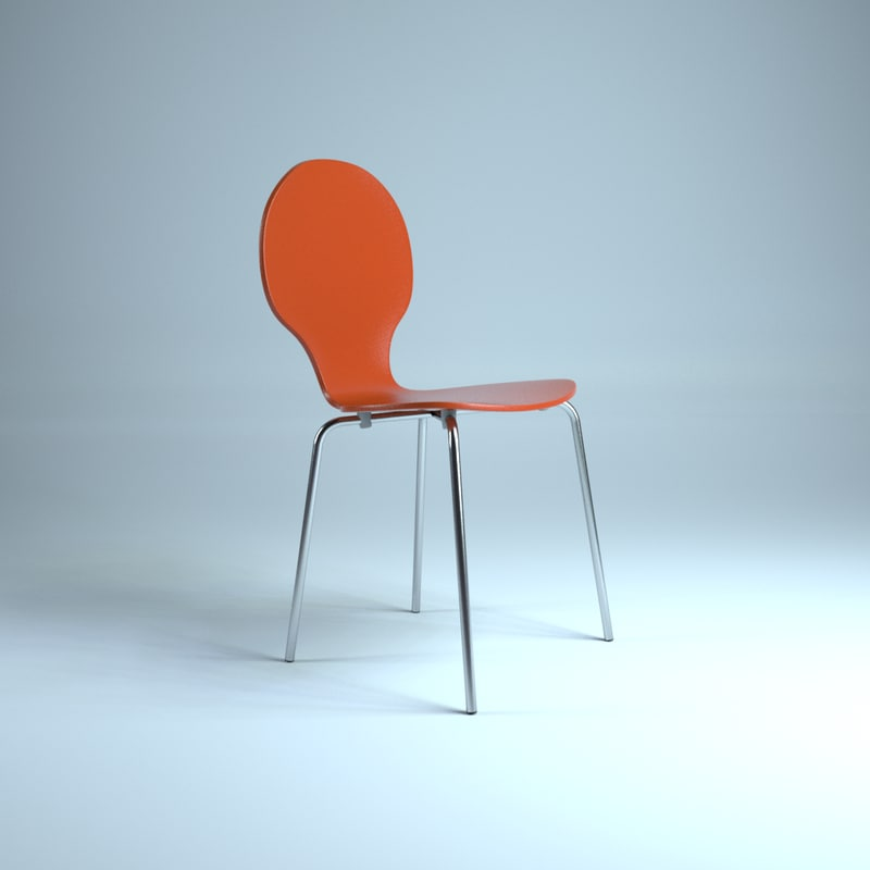 c4d pop plywood chair