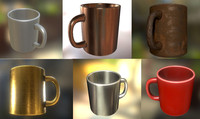 3d coffee cup pack model