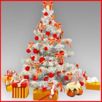 christmas tree 3d obj