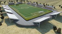soccer stadium obj