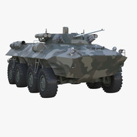 bronetransporter armoured transporter 3d model