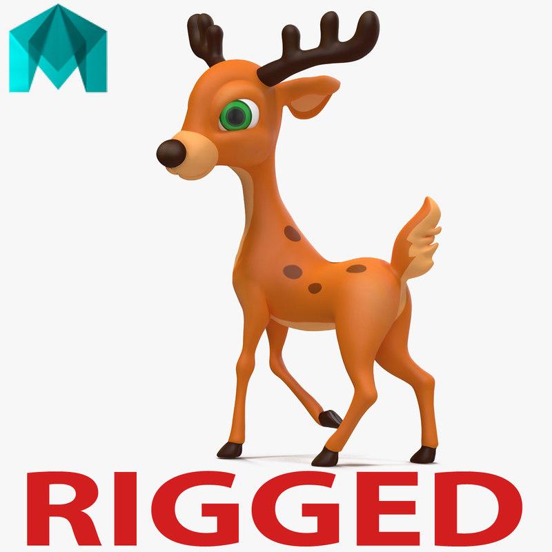 cartoon deer rigged ma