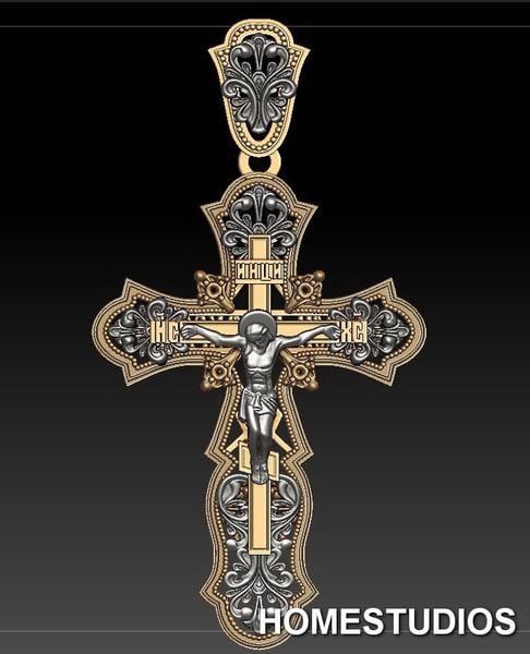 russian cross obj