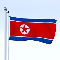 Animated North Korea Flag