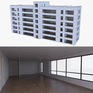 apartment interior buildings 3d model