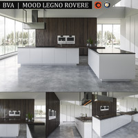 kitchen bva mood legno 3d max
