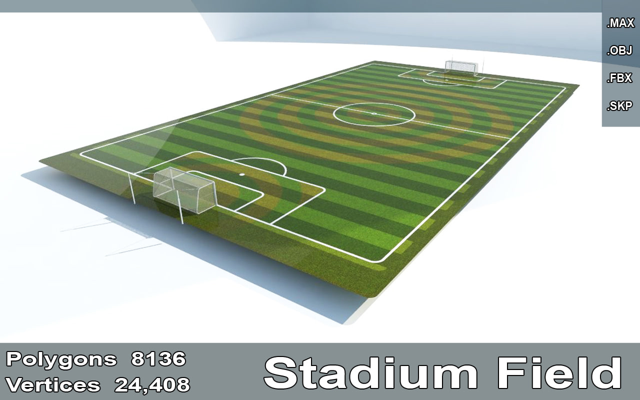 3d model stadium field goals