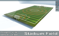Soccer Stadium Field And Goals