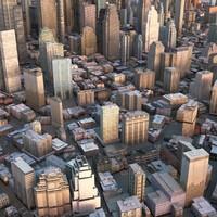 cityscape city streets 3d model